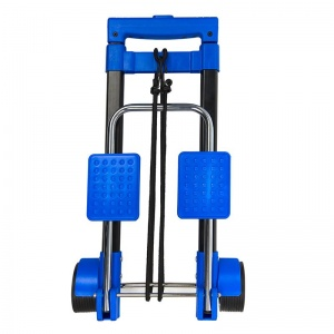ProPlus foldable luggage trolley steel black / blue 30 kg
