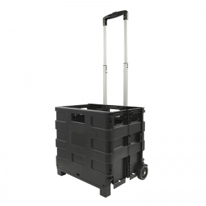 ProPlus luggage trolley with folding crate 40 liters black