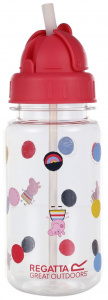Regatta trinkflasche Peppa Pig junior 350 ml transparent/rot