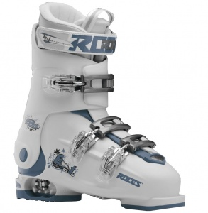 Roces skischoenen Idea Free junior wit/grijsblauw