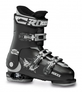 Roces skischoenen Idea Free junior zwart/zilver