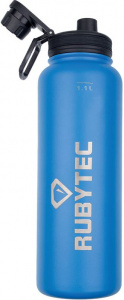 Rubytec drinking bottle 1Shira Cool.1 litre ABS / stainless steel blue