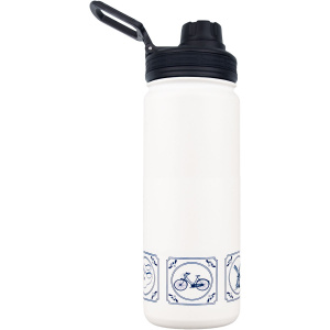 Rubytec drinking bottle Shira Cool550 ml ABS / stainless steel white/blue
