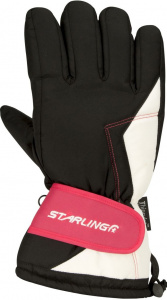 Starling ski gloves Taslan polyamide black/pink