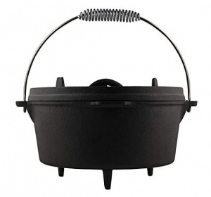 The Windmill braadpan Dutch Oven 7,6 liter gietijzer zwart 3-delig