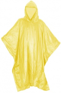 TOM rain poncho with hood unisex yellow one size