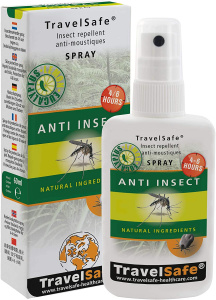 TravelSafe anti-insectenspray 60 ml transparant