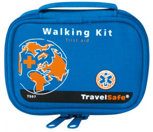 TravelSafe First aid kit Walking 9 x 12 cm polyester blue 19-piece