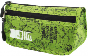 TravelSafe toiletry bag 21 x 12 cm polyester green/black