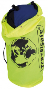 TravelSafe transporthoes backpack 85 liter polyester geel