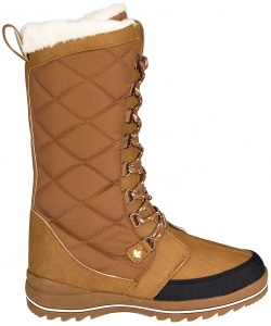 Winter-Grip snowboots Checkered Walker dames lichtbruin