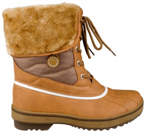 Winter-Grip snowboots Furtop Lumberjack PU leather brown