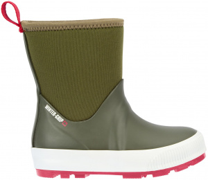Winter-Grip snowboots Neo Welly Jr rubber legergroen/rood