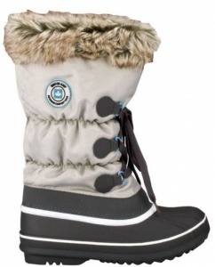 Winter-Grip Snow Boots Lace Up FUR Ladies Grey