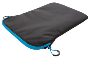 XD Collection laptophoes sleeve 15,4 inch polyester zwart/blauw