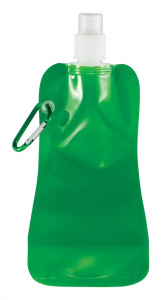 XD Collection drinking bottle foldable PE green/white 400 ml