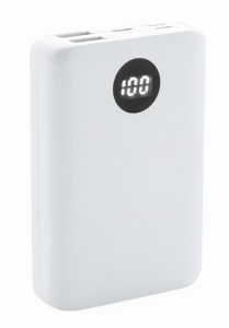 XD Collection powerbank 10.000 mAh 9,2 cm ABS wit