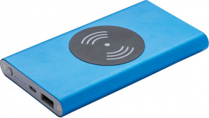 XD Collection powerbank 4000 mAh 12 x 6,7 cm RVS blauw