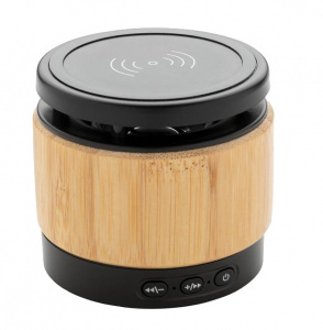 XD Collection speaker/oplader Bamboo bluetooth 7 cm ABS naturel