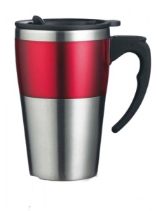 XD Design thermos flask 0Highland.35 liter stainless steel/ABS red/silver