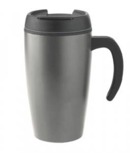 XD Design thermos flask 0Urban.4 litres stainless steel grey/black