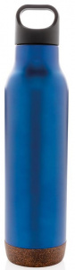 XD Design thermosfles Cork 0,6 liter RVS/polypropyleen blauw