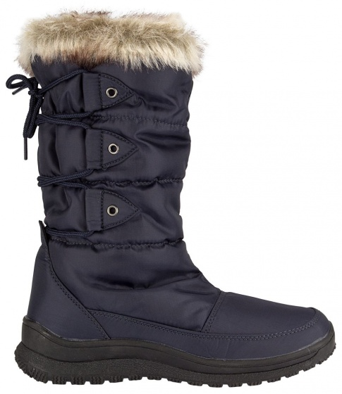 Winter-Grip Snowboots hoog dames marineblauw
