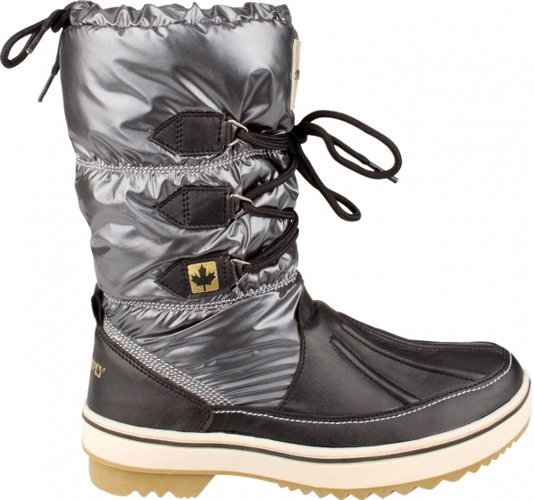 Winter-Grip Snowboots Lace Up Antraciet Dames