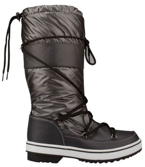 Winter-Grip Snowboots Lace Up hoog dames antraciet